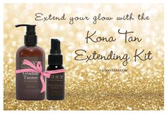 Customize your own self tanner's shade, AND smell great doing it! The Kona Tannning Spritzer is 1 ounce of the same tanning solution used to airbrush our clients, for an extra blast of concentrated color. Also works great for touchups and repairs! Mix with the Gradual Tanner for a customized color, made just for you.  Order at konatans.com. #tan #spraytan #selftan #selftanner #bronzer #beauty