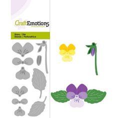 0183 CraftEmotions die, Violets Stedmoderblomst-315