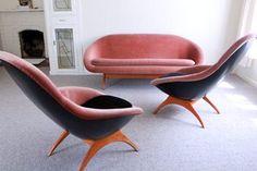 1960's Lurashell Gemini 3-Piece Lounge Suite