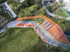 Landscape Elements, Landscape Plans, Landscape Architecture, Landscape Design, Playground Design, Children Playground, Linear Park, Green School, Building Structure