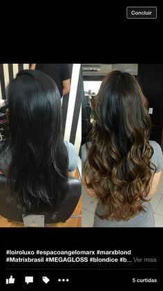 Ombre hair Chic e discreto para iluminar cabelos escuros! Lindíssimo!
