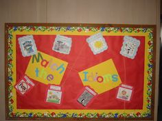 """Match the Idioms"" interactive bulletin board"
