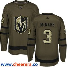 Men s Vegas Golden Knights  3 Brayden McNabb Green Stitched Adidas NHL  Jersey Salute to Service ce2ca262d
