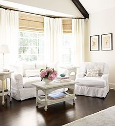 cottage home tour - to have a sitting room in the master would be heaven!