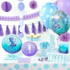Mermaids Under the Sea Super Deluxe Party Pack - ThePartyWorks