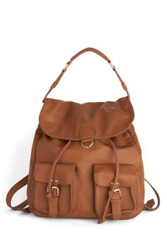 Welcome Backpack. Have you fallen out of the routine of keenly accessorizing? #brown #modcloth