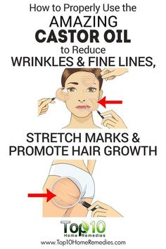 How to Properly Use the Amazing Castor Oil to Reduce Wrinkles and Fine Lines, Promote Hair Growth and Prevent Stretch Marks!