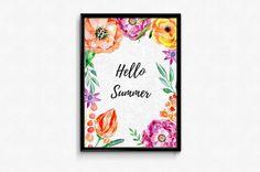 Plakat A3 Hello Summer  - Posters-Monster - Wydruki cyfrowe Summer Poster, Hello Summer, A3, Posters, Etsy, Poster, Billboard