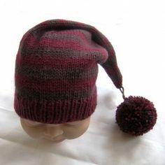 Merino Wool pixie hat, Aubergine & Bardo - £19.99