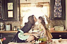 Mom & Daughter Baking Photo Shoot, so cute!
