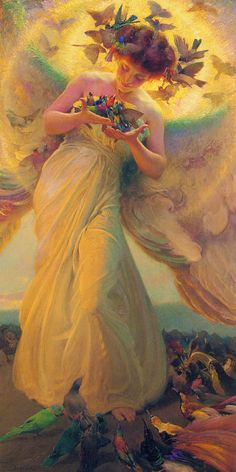 Franz Dvorak, The Angel of the Birds (1910)