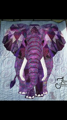 Just wow elephant quilt!