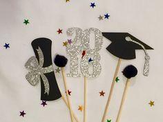 Graduation Centerpiece Sticks 2016 Graduation Party Graduation Decorations Graduation Class of 2016 Party Graduation Cake Toppers, Graduation Banner, Graduation Cupcakes, Graduation Centerpiece, Graduation Ideas, Grad Parties, Etsy, Crafts For Kids