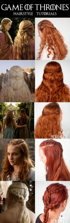 ~Game of Thrones Hair Tutorials~ Quick and Easy Hairstyles for every day...only for obsessed with GOT!