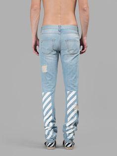 OFF-WHITE C/O VIRGIL ABLOH, Destroyed Jeans (Blue)