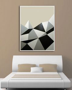 GEOMETRIC ABSTRACT PAINTING Triangles Geometric by magicromia, €644.97
