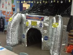 Going into space dramatic play Space Preschool, Space Activities, Dramatic Play Area, Dramatic Play Centers, Space Classroom, Classroom Themes, Sistema Solar, Role Play Areas, Outer Space Theme