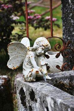 angel in a french garden