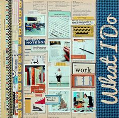 "Must have this entire collection!! The ""what I do"" layout is a great idea for 12 on the 12th."