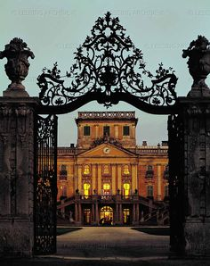 BAROQUE ARCHITECTURE 18TH Entrance gate and palace of the princes Esterhazy in Eszterhaza, now Fertőd, Hungary. Joseph Haydn and the prince's orchestra used to spend the summer in Eszterhaza and return to Eisenstadt in autumn. Eszterhaza Palace, Fertőd, Hungary