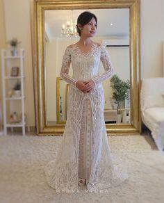 69 Ideas For Sewing Dress Wedding Brides Kebaya Wedding, Muslim Wedding Dresses, Wedding Attire, Wedding Bride, Bridal Dresses, Wedding Gowns, Wedding Dreams, Wedding Stuff, Prom Dresses
