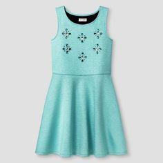 Girls' Scuba Dress Cat & Jack - Green