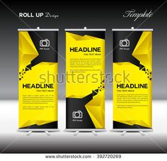 Yellow and black Roll Up Banner template
