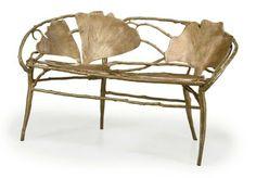 Claude Lalanne, Ginko Banquette or Bench Vintage Furniture, Cool Furniture, Painted Furniture, Furniture Design, Unusual Furniture, Art Nouveau Furniture, Banquette, Chair Design, Home Furnishings