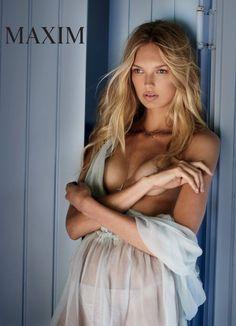 Pracht foto's! Het Nederlandse super model Romee Strijd trekt haar lingerie uit voor de Italiaanse Maxim!
