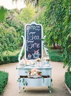 Chalk Board Tea Time
