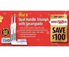 Oral B Dual Handle Triumph With Smartguide