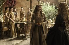 Pin for Later: See Brand-New Pictures From Game of Thrones Season 5!  Margaery Tyrell is still faking nice with Cersei.