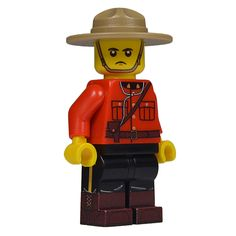 Canadian Mounite minifigure from United Bricks! #LEGO #Canada #Mountie #Minifigure