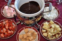 New Years Day Family Fondue Party tradition!    Love this idea