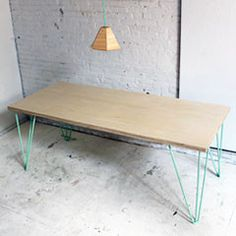 Mid century modern coffee table featuring black walnut for Plywood coffee table diy