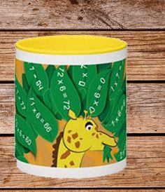 Cute Ceramic Giraffe Mug - Kids - Animal Mug Cute - Unique Gift - Colourful Present - Cup - Children - Kids- Numbers - Gift - Party Multiplication Games For Kids, Fun Math, Cootie Catcher Template, Giraffe Mug, Childrens Mugs, Unique Gifts For Kids, Funny Cups, Animal Mugs, Numbers For Kids