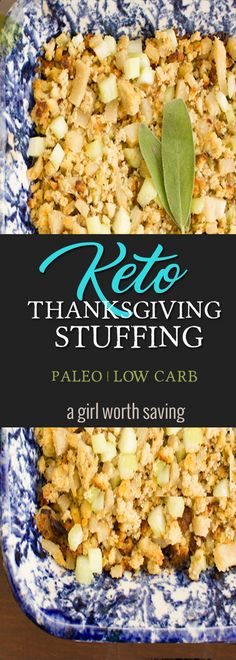 Looking for a Keto Thanksgiving Stuffing that is also Paleo and Low Carb?  This cornbread stuffing is only 3 net carb per serving and can be customized! via @bejelly