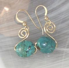 Perfectly Twisted Handmade Wire Wrapped Beaded and Gemstone Jewelry: Wire Wrapped Earring Tutorial: Beginner: How to Make Spiral Swan Earrings