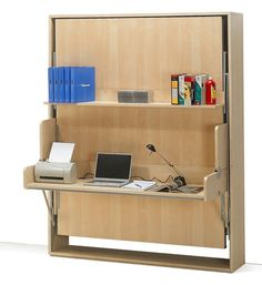 The Benefits of Folding Furniture My Decorative Space Saving Fitted Bedroom Furniture for Storage Creating Compact Interior Design Space Sa. Cama Murphy, Murphy Bed Desk, Murphy Bed Plans, Desk Bed, Folding Furniture, Furniture Design, Folding Beds, House Furniture, Modern Furniture