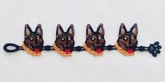 FSL Dog Bracelets Set, 15 Designs - 6x10 | What's New | Machine Embroidery Designs | SWAKembroidery.com Ace Points Embroidery
