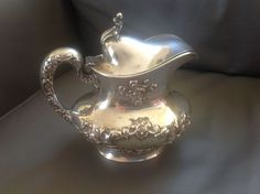 Rare Gorham Sterling Silver Buttercup Pattern Syrup Pitcher Helmet Covered. Sold on eBay for $260.00 with 37 bids