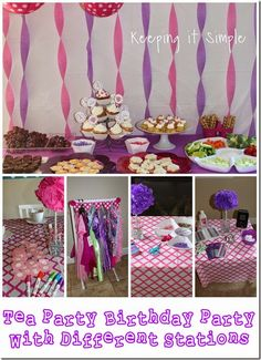 Little Girl Birthday Party Ideas Tea With 4 Different Stations To Get The Girls Ready For Food More Including