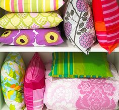 On Christmas, I wish to open my closet and find it filled with bright, vivid colored Marimekko pillows & blankets of intricate, cheery patterns.