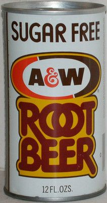 A and W SUGAR FREE ROOT BEER A&w Root Beer, Vintage Restaurant, Burger King Logo, Sugar Free, Vintage Designs, Soda, The Past, Canning