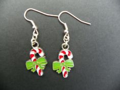 Candy Cane Earrings Traditional Candy Canes by CathysCreationsPlus $10.00 + 2.50 shipping