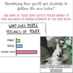 COVID-19 Safety Poster Memes by Primarily Au-Some | TpT