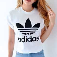 Adidas BF Fit White Trefoil Tee