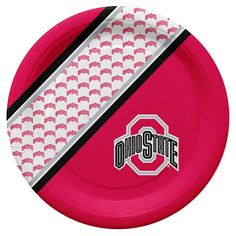 Ohio State Buckeyes Disposable Paper Plates