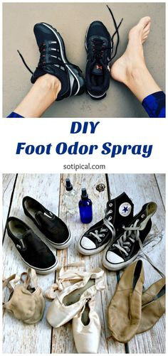 Wondering how to get rid of foot odor in shoes? Use this DIY Foot Odor Spray to deodorize shoes and its soothing on feet too - So TIPical Me Diy Deodorant, Natural Deodorant, Deodorize Shoes, Foot Spray, Foot Remedies, Foot Odor, Winter Skirt, Pointe Shoes, Feet Care