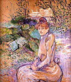 Woman in Monsieur Forest's Garden -/ Henri de Toulouse-Lautrec